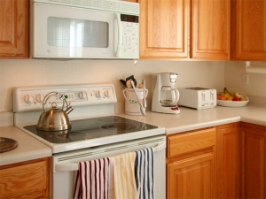kitchen appliances and plumbing