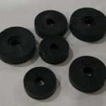 Several types of washers for fixing a dripping tap