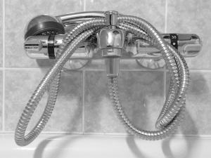Shower head plumbing