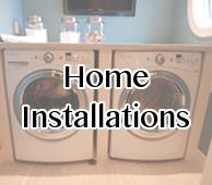Small plumbing installations, washing machines
